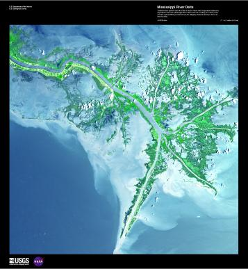 EARTH AS ART 2 MISSISSIPPI RIVER DELTA