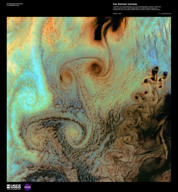 EARTH AS ART 2 (EAA) VON KARMAN VORTICES