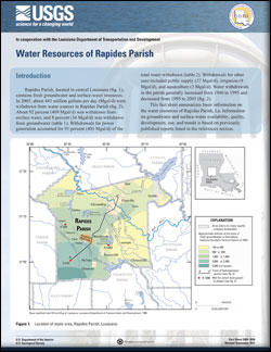 WATER RESOURCES OF RAPIDES PARISH, LA