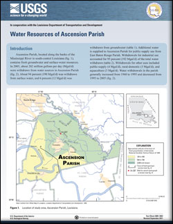 WATER RESOURCES OF ASCENSION PARISH, LA
