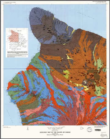 GEOLOGIC MAP THE ISLAND OF HAWAII, HI