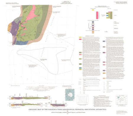 SARATOGA TABLE, AN GEOLOGIC MAP
