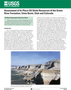 OIL RESOURCES GREEN RIVER FORMATION