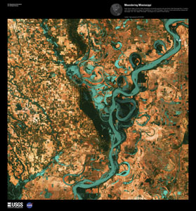 EARTH AS ART 3 (EAA) MEANDERING MISSISSI