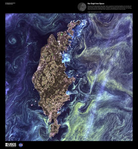 EARTH AS ART 3 (EAA) VAN GOGH FROM SPACE