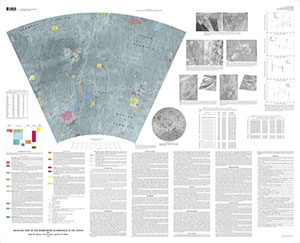 GEOLOGIC MAP BARRYMORE QUAD (V-59) VENUS