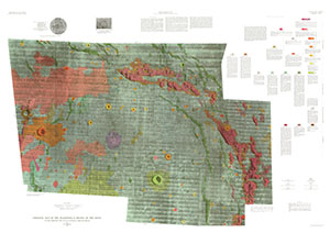 GEOLOGIC MAP FLAMSTEED K REGION THE MOON