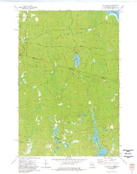 LAKE EVELYN, WI-MI HISTORICAL MAP GEOPDF