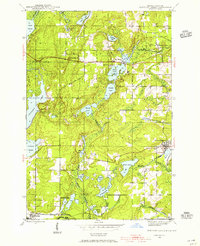 FORTUNE LAKES, MI-WI HISTORICAL MAP GEOP