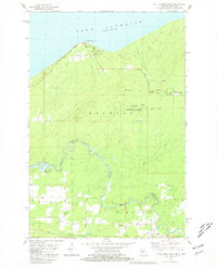 LITTLE GIRLS POINT, MI-WI HISTORICAL MAP