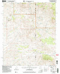 TILLIE HALL PEAK, NM-AZ HISTORICAL MAP G