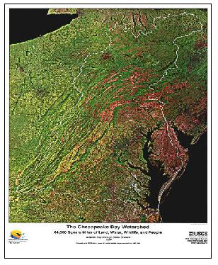 CHESAPEAKE BAY WATERSHED: 64,000 SQ, VA
