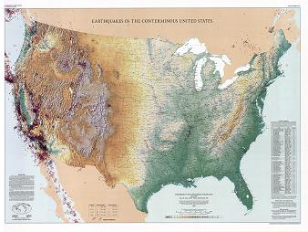 EARTHQUAKES IN CONTERMINOUS US 1534-1991