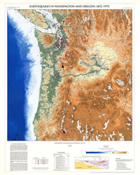 EARTHQUAKES WASHINGTON/OREGON, 1872-1993