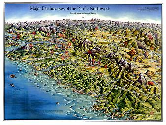 MAJOR EARTHQUAKES PACIFIC NORTHWEST