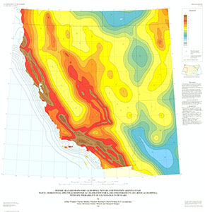 SEISMIC-HAZARD MAPS CA, NV, AZ, UT MAP D