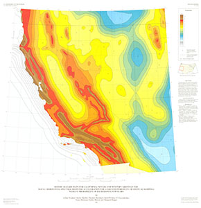 SEISMIC-HAZARD MAPS CA, NV, AZ, UT MAP K