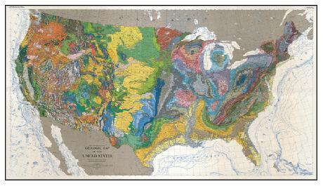 GEOLOGIC MAP UNITED STATES, US