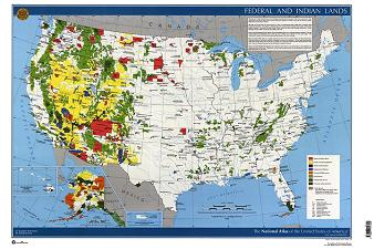 FEDERAL & INDIAN LANDS NATL ATLAS OF, US