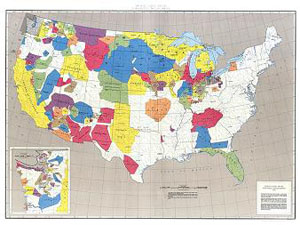 INDIAN LAND AREAS JUDICIALLY, US