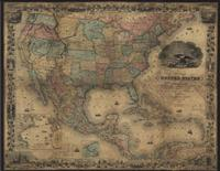 MAP OF THE UNITED STATES OF AMERICA 1857