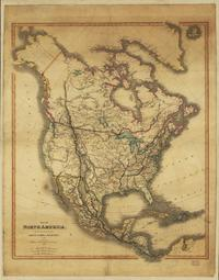 MAP OF NORTH AMERICA 1849
