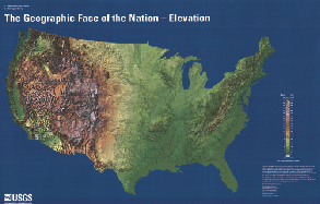 GEOGRAPHIC FACE OF THE NATION ELEVATION