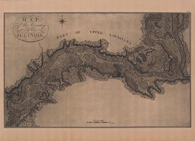 MAP OF THE COUNTRY OF THE ILLINOIS 1796