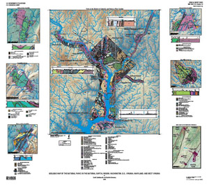 GEOLOGIC MAP NATIONAL PARKS, DC