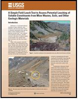 FIELD LEACH TEST IN GEOLOGIC MATERIALS