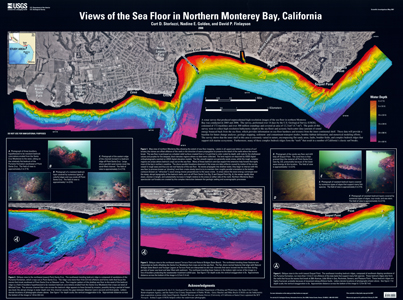 VIEWS OF SEA FLOOR MONTEREY BAY, CA