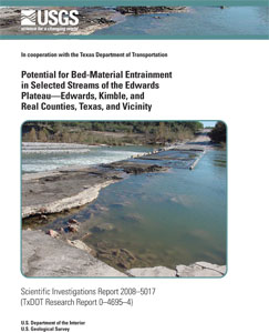 BED MATERIAL ENTRAINMENT IN STREAMS, TX