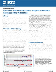 CLIMATE CHANGE ON GROUNDWATER OF US