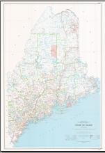 MAINE BASE MAP HIGHWAYS NO CONTOURS, ME
