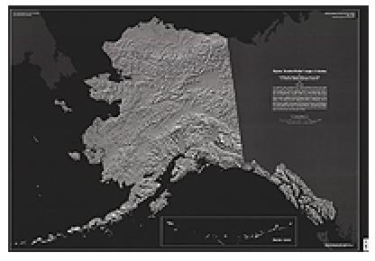 SET, ALASKA DIGITAL SHADED RELIEF, AK